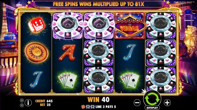 21 Dukes featuring the Video Slots Vegas Nights with a maximum payout of $7,500