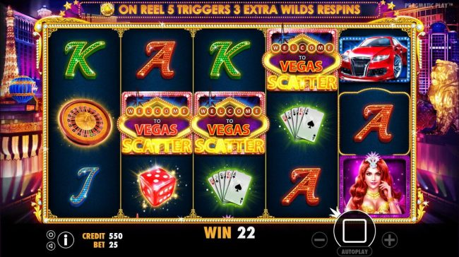 Oshi featuring the Video Slots Vegas Nights with a maximum payout of $7,500