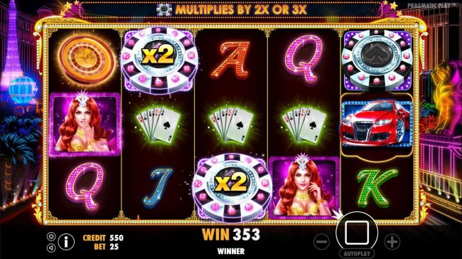 Win Paradise featuring the Video Slots Vegas Nights with a maximum payout of $7,500