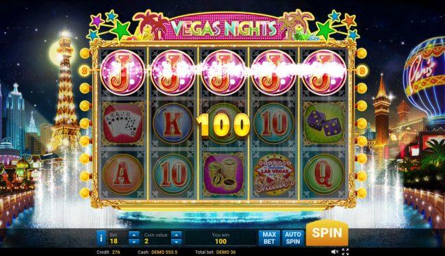 Vegas Nights :: A winning five of a kind