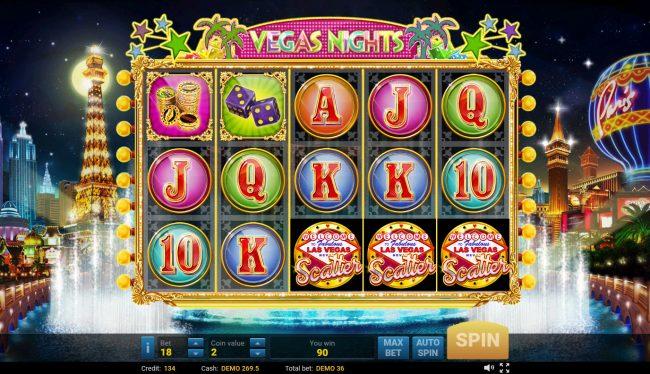 Vegas Nights :: Scatter Win