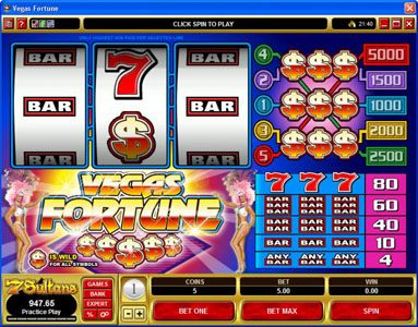 Play slots at Casino Mate: Casino Mate featuring the Video Slots Vegas Fortune with a maximum payout of $5,000