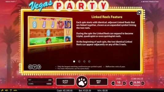 Play slots at 24K Casino: 24K Casino featuring the Video Slots Vegas Party with a maximum payout of $135,000