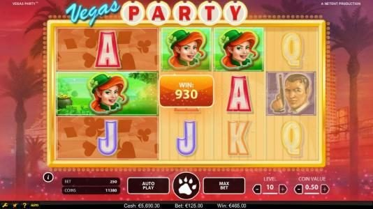 Moon Games featuring the Video Slots Vegas Party with a maximum payout of $135,000