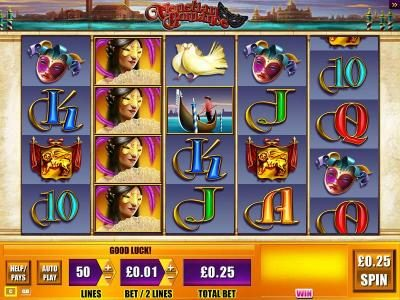 Karl Casino featuring the Video Slots Venetian Romance with a maximum payout of $1,000