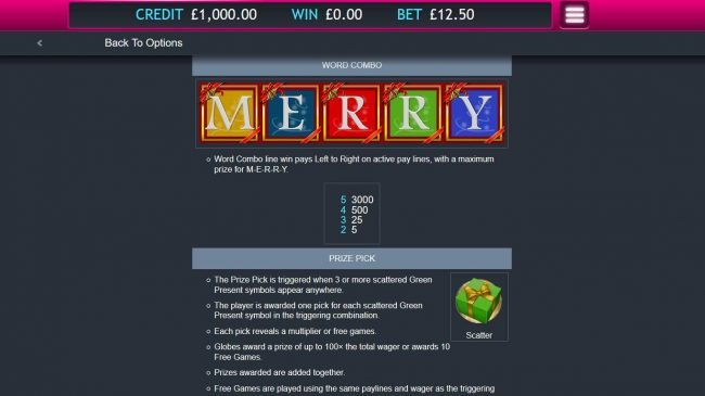 Money Reels featuring the Video Slots Very Merry Christmas with a maximum payout of $32,000
