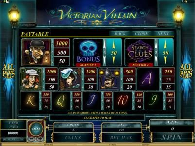 Play slots at Casino Kingdom: Casino Kingdom featuring the Video Slots Victorian Villain with a maximum payout of $62,500