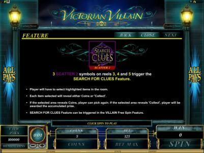 Gaming Club featuring the Video Slots Victorian Villain with a maximum payout of $62,500