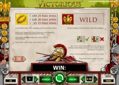 Jetbull featuring the Video Slots Victorious with a maximum payout of $7,500