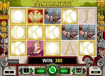 Karamba featuring the Video Slots Victorious with a maximum payout of $7,500