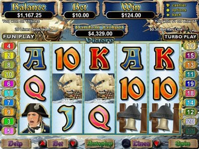 Play slots at Grande Vegas: Grande Vegas featuring the Video Slots Victory with a maximum payout of $250,000