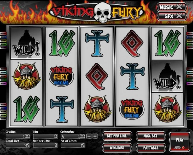 Elegant VIP featuring the Video Slots Viking Fury with a maximum payout of $7,500