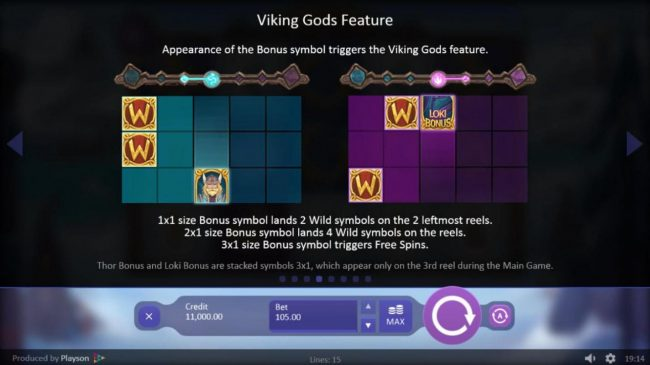 Diamond Club VIP featuring the Video Slots Viking Gods Thor and Loki with a maximum payout of $150,000