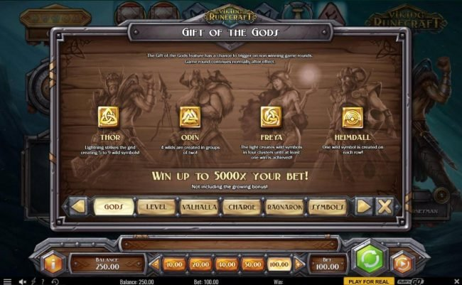 TS featuring the Video Slots Viking Runecraft with a maximum payout of $400,000