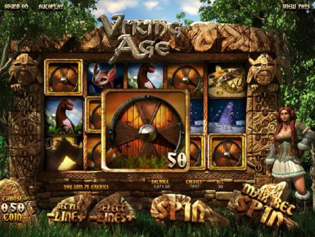 Play slots at Real Bet: Real Bet featuring the Video Slots Viking Age with a maximum payout of $3,750