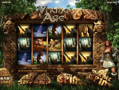 123 Vegas Win featuring the Video Slots Viking Age with a maximum payout of $3,750