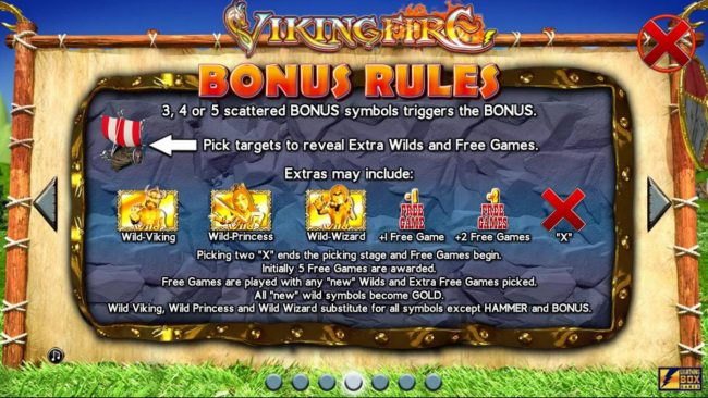 Argo featuring the Video Slots Viking Fire with a maximum payout of $50,000