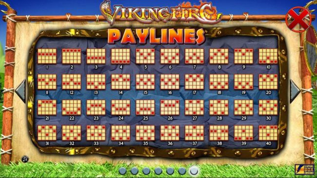 Payline Diagrams 1-40.