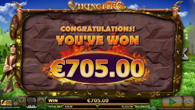 Spinland featuring the Video Slots Viking Fire with a maximum payout of $50,000