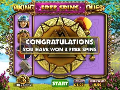 Three free spins awarded.