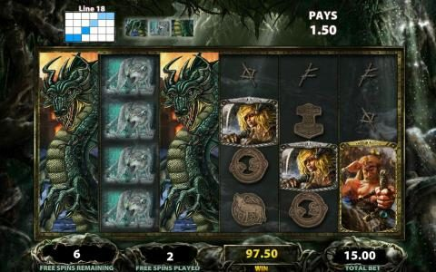 Viking Vanguard :: A pair of wild symbols triggers multiple wining paylines
