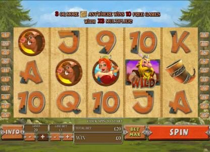 Royal Dice featuring the Video Slots Viking Mania with a maximum payout of $1,000,000