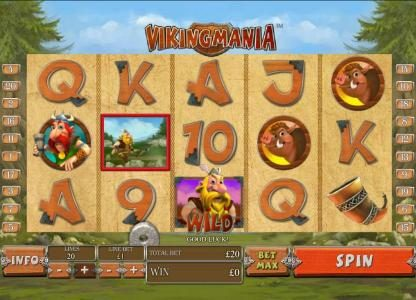 LesA Casino featuring the Video Slots Viking Mania with a maximum payout of $1,000,000