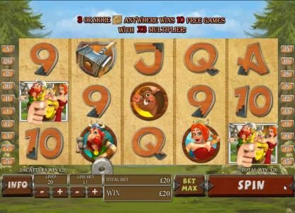 Grand Reef featuring the Video Slots Viking Mania with a maximum payout of $1,000,000