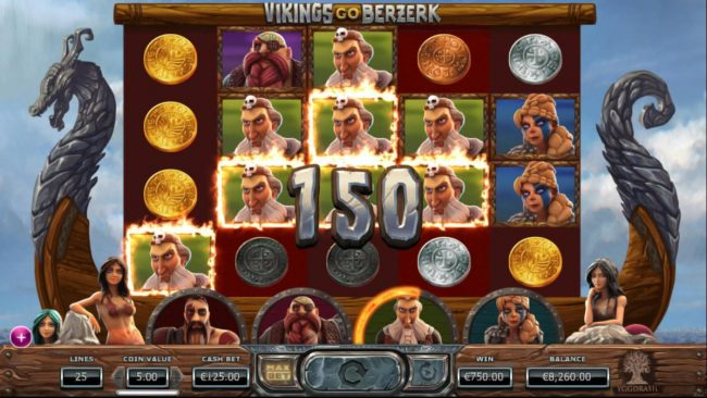 Crazy vegas featuring the Video Slots Vikings Go Berzerk with a maximum payout of $50,000