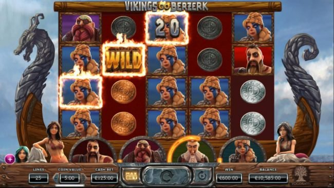 Casino Room featuring the Video Slots Vikings Go Berzerk with a maximum payout of $50,000