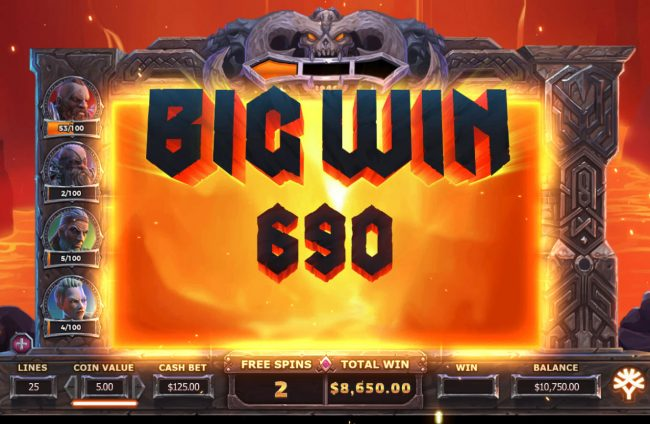 Casino Extra featuring the Video Slots Vikings Go To Hell with a maximum payout of $375,000