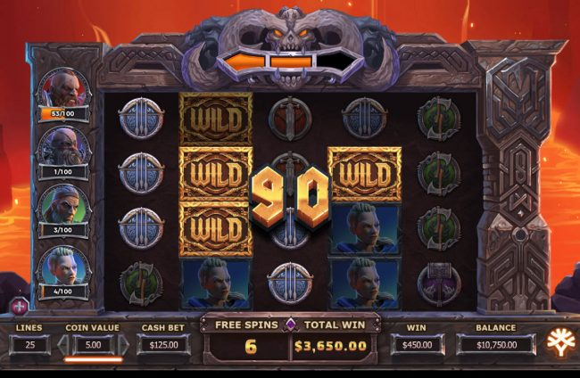 Play slots at Crazy vegas: Crazy vegas featuring the Video Slots Vikings Go To Hell with a maximum payout of $375,000