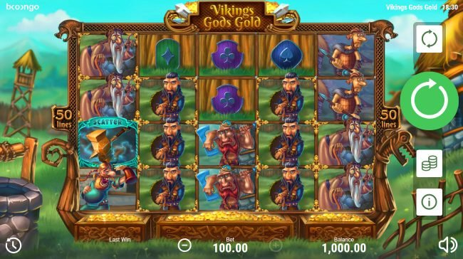 Play slots at Cyber Spins: Cyber Spins featuring the Video Slots Viking's Gods Gold with a maximum payout of $50,000