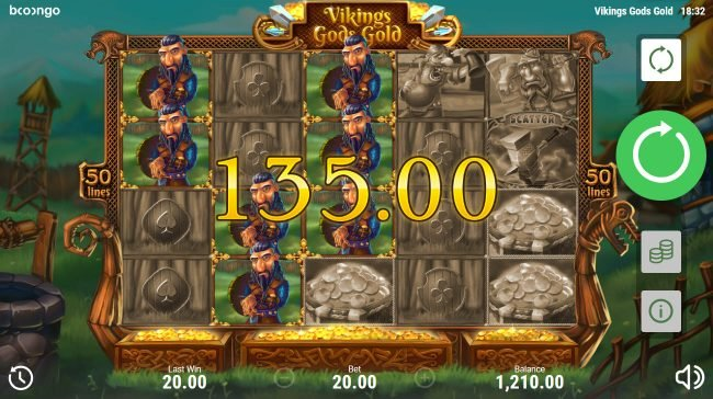 Viking's Gods Gold :: Multiple winning paylines