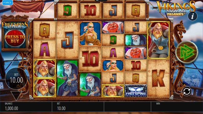 Vikings Unleashed Megaways :: Main Game Board