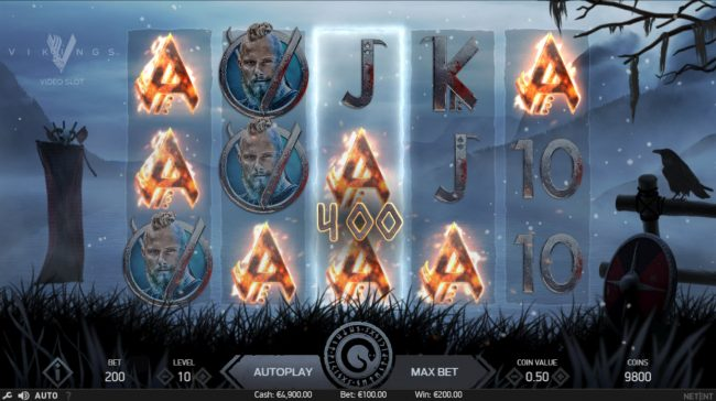 TheBesCasino featuring the Video Slots Vikings with a maximum payout of $100,000