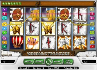 Tivoli featuring the Video Slots Viking's Treasure with a maximum payout of $25,000