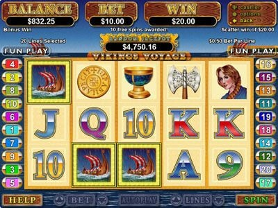 Play slots at Aussie Play: Aussie Play featuring the video-Slots Viking's Voyage with a maximum payout of $250,000