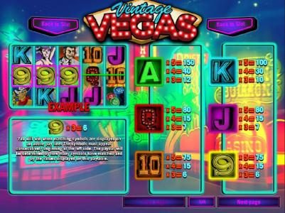 Casino Royal Club featuring the Video Slots Vintage Vegas with a maximum payout of $37,500