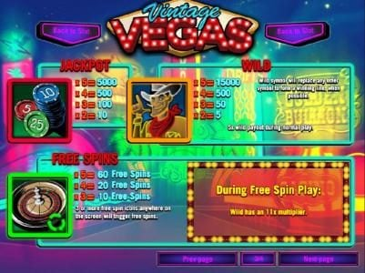 Paradise 8 featuring the Video Slots Vintage Vegas with a maximum payout of $37,500
