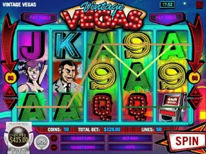Winbig21 featuring the Video Slots Vintage Vegas with a maximum payout of $37,500