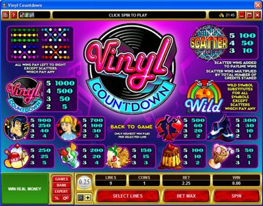 Royal Panda featuring the Video Slots Vinyl Countdown with a maximum payout of $2,000