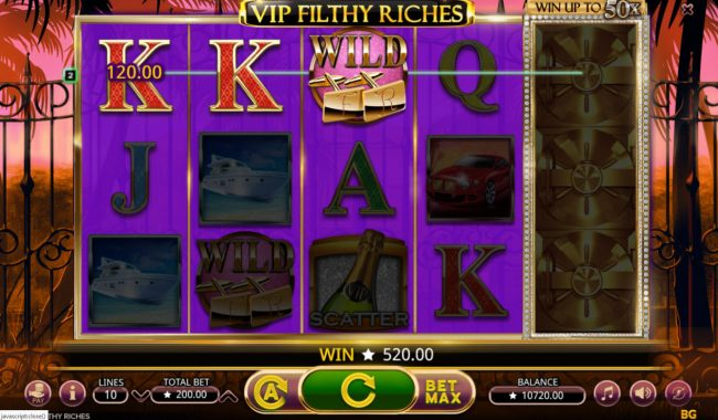 Play slots at Betchan: Betchan featuring the Video Slots VIP Filthy Rich with a maximum payout of $80,000