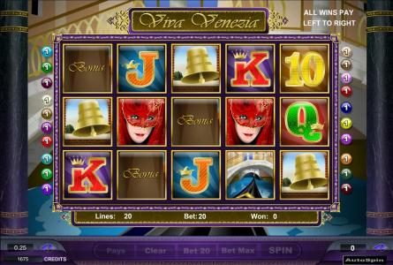 Moon Games featuring the Video Slots Viva Venezia with a maximum payout of $125,000