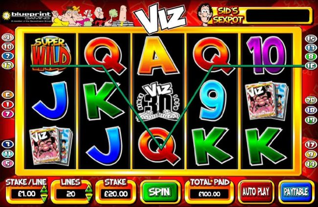 Secret Slots featuring the Video Slots Viz with a maximum payout of $1,000,000