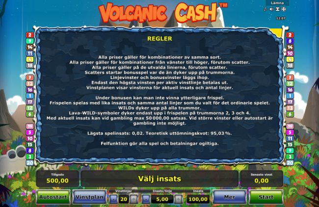 Volcanic Cash :: General Game Rules