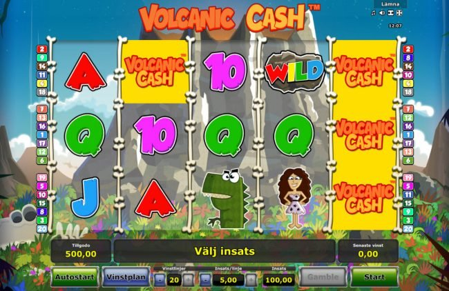Play slots at Money Storm: Money Storm featuring the Video Slots Volcanic Cash with a maximum payout of $50,000
