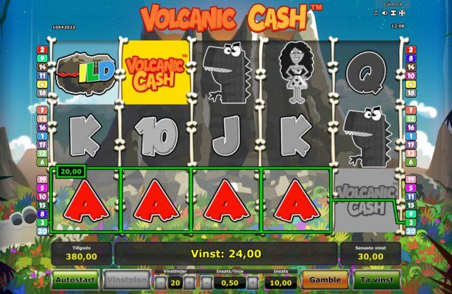 Volcanic Cash :: Multiple winning paylines