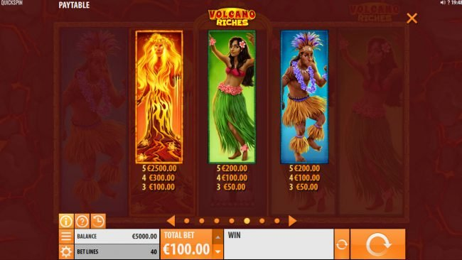 Come On featuring the Video Slots Volcano Riches with a maximum payout of $150,000