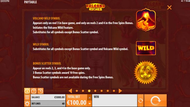 Intercasino featuring the Video Slots Volcano Riches with a maximum payout of $150,000